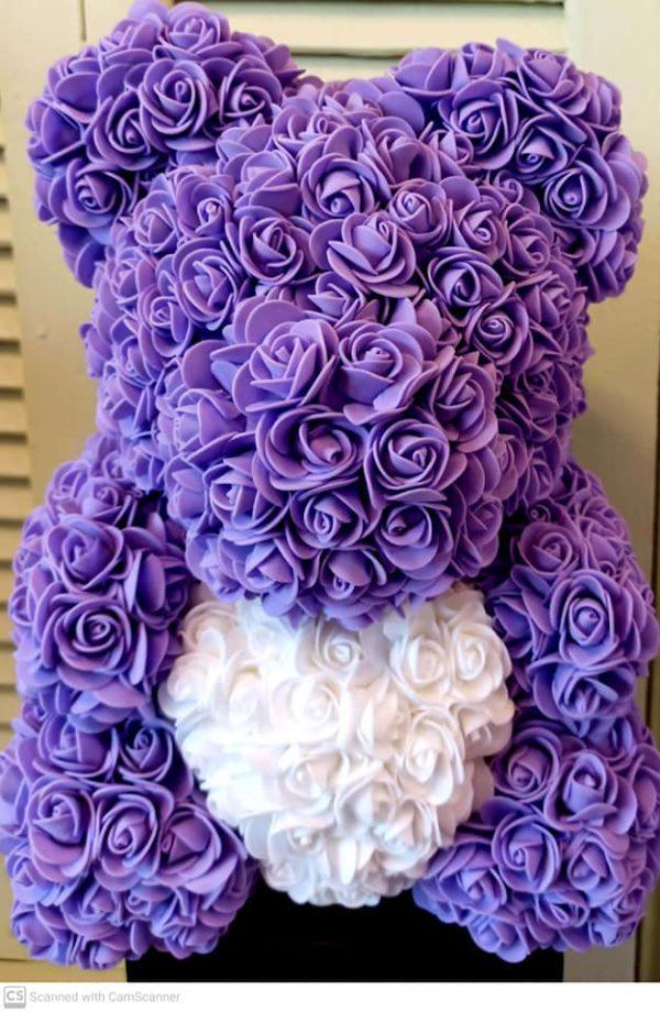 Αρκουδάκι ROSE BEAR με λιλά - μοβ τριαντάφυλλα στη Θεσσαλονίκη! Λουλούδια & Φυτά στις καλύτερες τιμές! Online Ανθοπωλείο Ανθοδημιουργίες, Τούμπα Θεσσαλονίκη.